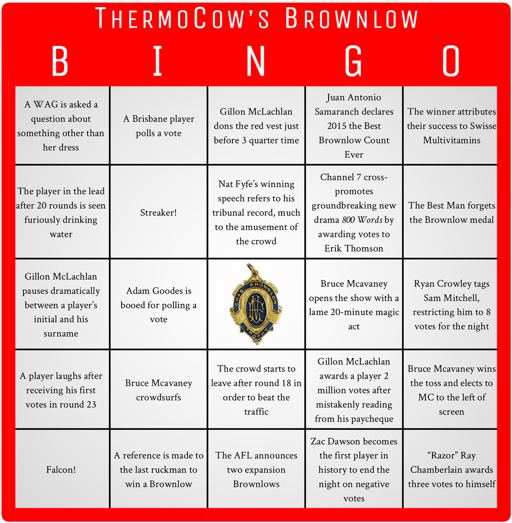 Brownlow-Bingo