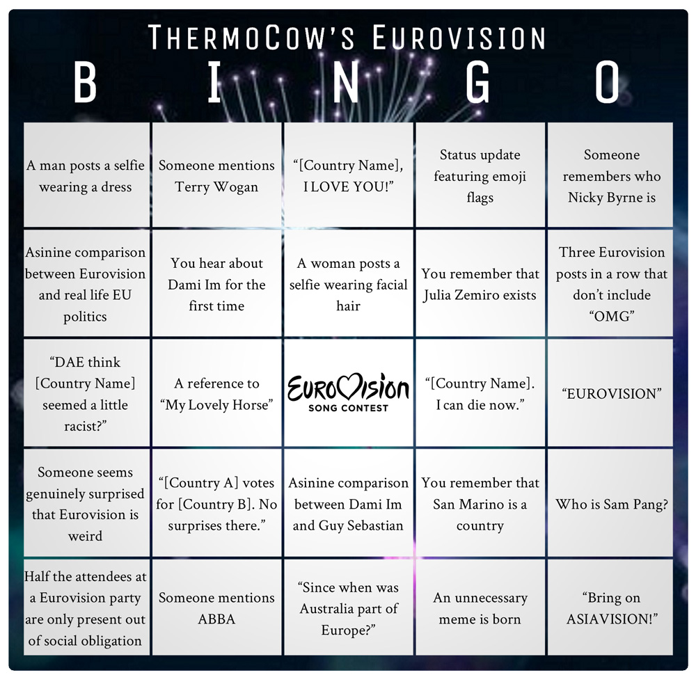 Eurovision-Bingo
